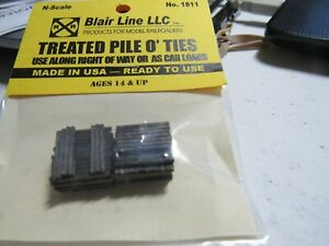 Blair Line N Scale Treated Pile O'Ties Stained  #1811  Bob The Train Guy