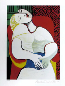 Pablo Picasso The DREAM Limited Edition Giclee Estate Signed 20x13