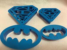 Batman Superman Cookie Cutter Biscuit Mold 4PCS Set