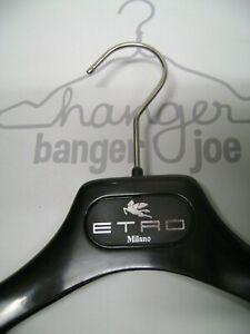 "ETRO MILANO BLACK PLASTIC 14 1/4"" DRESS SHIRT & PANT MIX HANGERS SET 12"