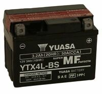 YUASA YTX4L-BS, 12V 3AH FOR MOTORCYCLE, MOTORBIKE, QUAD BIKE, JET SKI