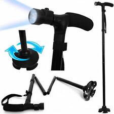 HEAVY DUTY ALUMINIUM WALKING STICK WITH LED FOLDABLE WALKING DISABILITY STICK