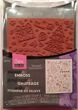 "Sizzix / Hero Arts Stamp & Emboss  ""Merry Background Set"" Christmas,"
