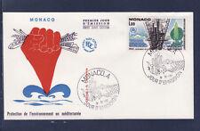 MONACO   enveloppe 1er jour  protection de l'environement     1977