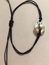 Baby Foot bracelet Black Handmade Unisex