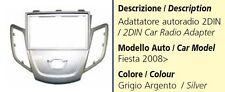 MASCHERINA AUTORADIO 2DIN PER FORD FIESTA DAL 2008 SILVER