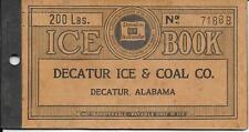 Decatur Ice & Coal Coupon Book Alabama 1930