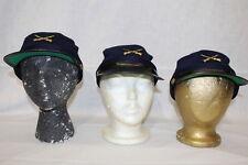 Lot Of 3 Americana Souvenirs & Gifts Civil War Battle Reenactment Hat, Blue/Gold
