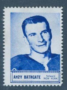 P5435.Topps 1961 Andy Bathgate single blue stamp, ex No gum, no crease,