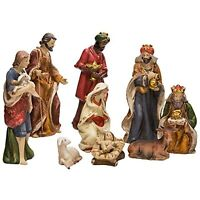 Kurt Adler 9-Inch Porcelain Nativity Figure Tablepiece Set of 9~Christmas Decor