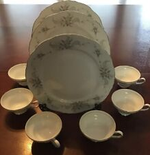 Ashcraft Fine China Queen Anne Plates And Cups
