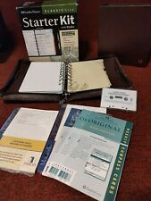 Franklin Covey Classic Size Fc Signature Zip Planner Brown Leather 15 Rings