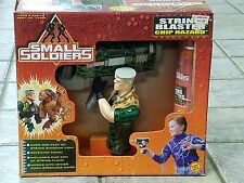 "VINTAGE 1998 SMALL SOLDIERS ""CHIP HAZARD"" ACTION FIGURE WITH BLASTER BY TOY BIZ"
