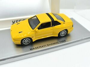 Miniature voiture Maserata Shamal auto 1:43 Kess Model diecast Modélisme Jaune
