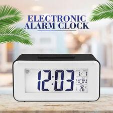 Digital LED Backlight LCD Snooze Electronic Alarm Clock Temperature Display