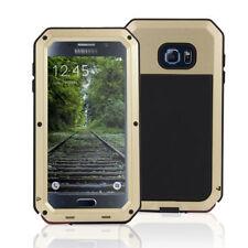 Housses et coques anti-chocs dorés en métal pour téléphone mobile et assistant personnel (PDA)