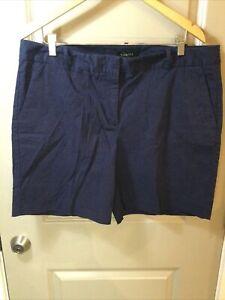 """Talbots Perfect Shorts 7"""" Indigo Blue Size 16"""