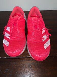 Adidas Adizero Sub 2 Shock Red White Action Running Shoes B37408 Mens Size 8.5
