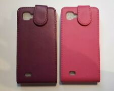 Vertical style PU leather flip case, cover to fit LG Optimus 4X HD