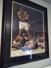 COA Muhammad Ali autographed 26 x 22 Sonny Liston KO Photo - Framed