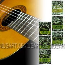 Set di 6 pc Chitarra Classica Acustica #1 a #6 Nylon Corde Trasparenti Argenti