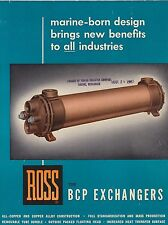 VINTAGE CATALOG #2804 - 1967 ROSS BCP EXCHANGERS