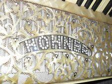 RARE ORIGINAL STUNNING VINTAGE BLING BEIGE PEARL HOHNER - PIANO ACCORDION