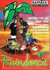 RAINDANCE Rave Flyer Flyers 11/7/98 A6 Berwick Manor Rainham Essex