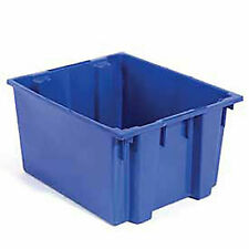 Stack And Nest Shipping Container No Lid 23 12x19 12x13 Blue Lot Of 3