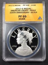 2017-S Proof Liberty Medal ANACS PF-69 DCAM, Buy 3 Items, Get $5 Off!!