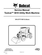 New Bobcat Toolcat 5610 Utility Vehicle 2011 rev Repair Service Manual 6986804
