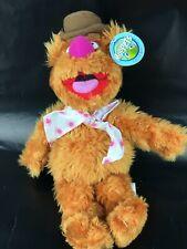 "The Muppets Fozzie Bear Plush Toy 11"" Nanco Stuffed Animal Jim Henson With Tag"