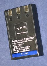Batería 1200mAh tipo ER-D100 NB-1L NB-1LH Para Canon Digital IXUS 400