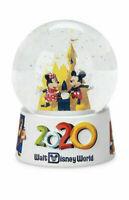 Disney Parks Disney World 2020 Mickey Minnie Mouse Four Parks MINI Snow Globe