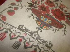 Vintage Ukrainian embroidered  rushnyk  Cherkasy  region #648-