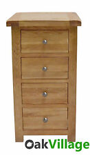Oak 4 Drawer Narrow Chest Of Drawers / Tallboy / Bedroom Furniture / New Wellow