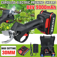 88V Cordless Rechargeable Electric Pruning Shears Secateur Branch Cutter