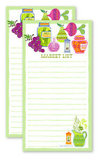 Fresh produce grocery shopping list pads - Set of TWO (50 sheets ea.)