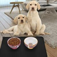 Silicone Pet Puppy Feeding Food Mat Waterproof Dog Non Cat Placemat Slip D0D7