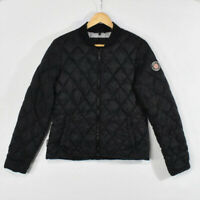 Madden NYC Black Quilted Bomber Jacket MEDIUM Packable Women's Junior's