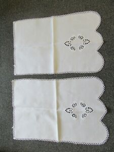 """Pair of Chair/ Sofa back Covers/ Protectors """"Linen/Cotton"""" Appr.21&half inch X14"""