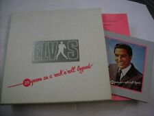 ELVIS PRESLEY - 25 YEARS - 5 LP BOX + BOOKLET RCA ITALY VERY GOOD CONDITION