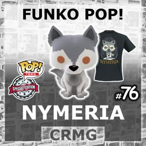 FUNKO POP VINYL NYMERIA #76 GAME OF THRONES GoT DIREWOLF PLUS T-SHIRT OPTION