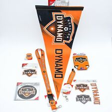 New ListingHouston Dynamo Mls Soccer Fan Bundle of 8 Pennant Key Ring Can Cooler Magnet