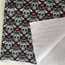50x148cm Cotton Canvas Fabric Craft Material Skull Love Heart DIY Bag Cushion F