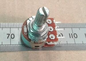 Dual Anti Log Potentiometer, Stereo Reverse / Inverse Logarithmic Pot T18 Spline