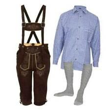 48-60 Latz Hemd Schuhe Socken Gr Neu Trachtenset 5-teilig braun Lederhose inkl