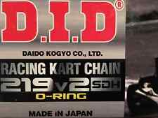 D.I.D GO KART RACING CHAIN #219V2 O-RING CHAIN  SILVER 114 LINKS W/SDH PINS