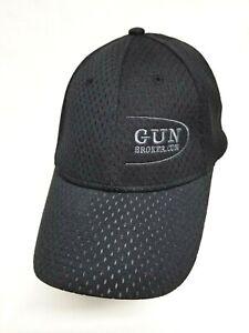 Gun Broker Baseball Cap Hat NU FIT Fitted Vented Mesh Brand New Stretch Size S/M