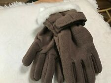 NWT BROWN FLEECE Girls Gloves Size Small